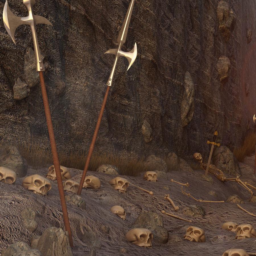 Skull Fantasy Path royalty-free 3d model - Preview no. 4