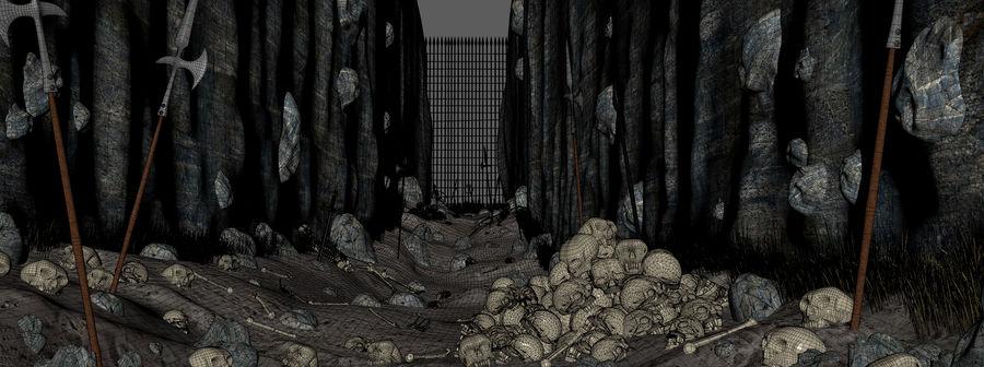 Skull Fantasy Path royalty-free 3d model - Preview no. 7