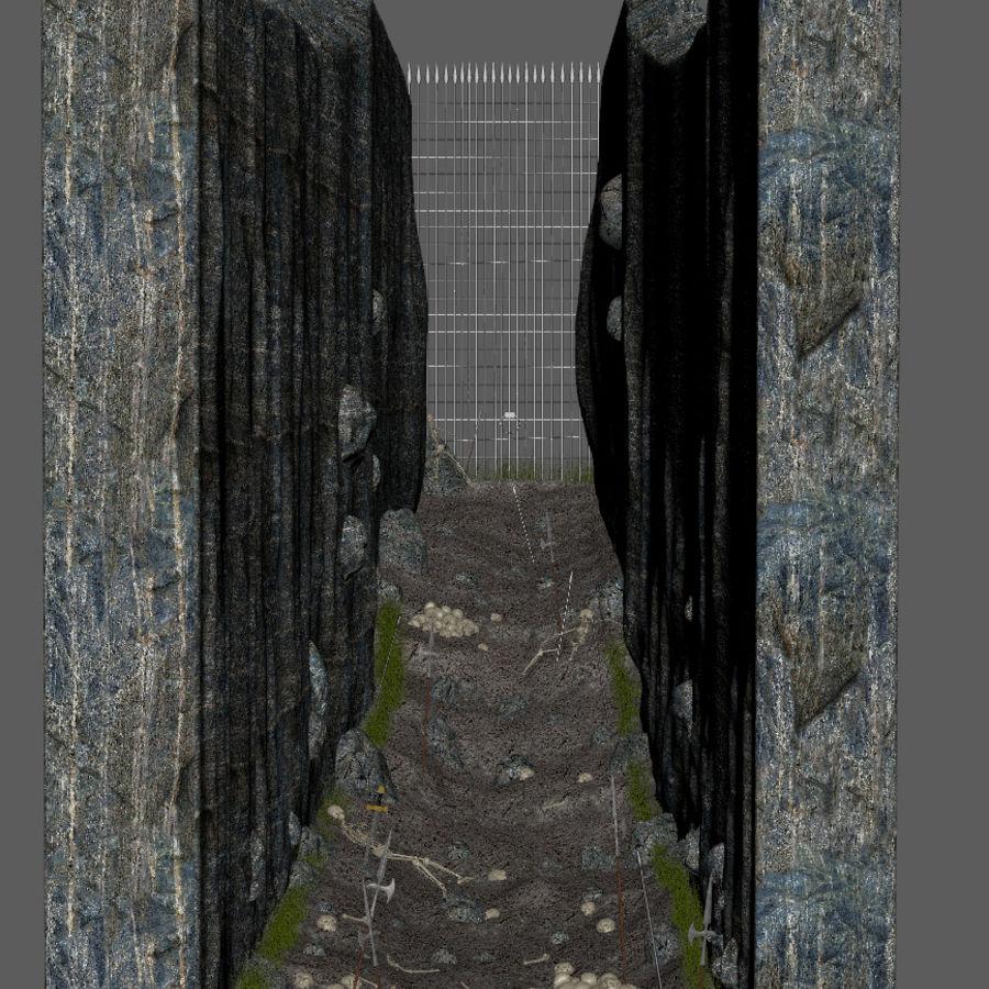 Skull Fantasy Path royalty-free 3d model - Preview no. 14