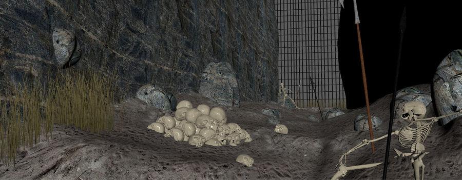 Skull Fantasy Path royalty-free 3d model - Preview no. 9