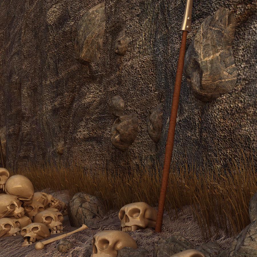 Skull Fantasy Path royalty-free 3d model - Preview no. 3