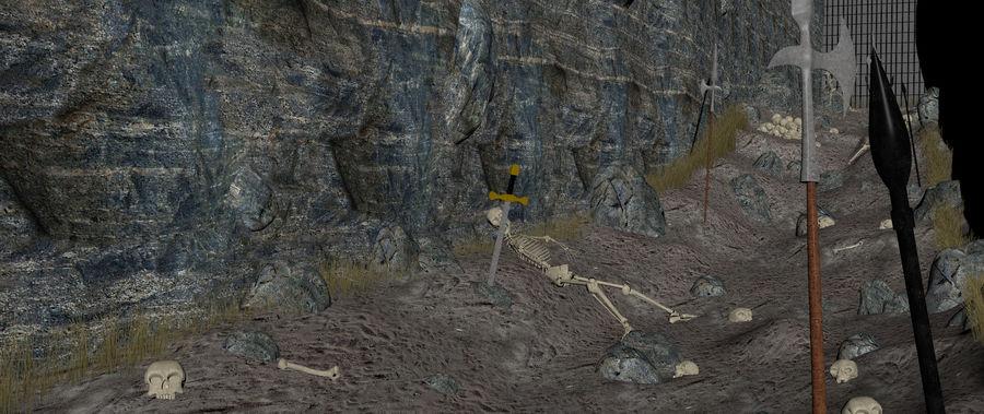 Skull Fantasy Path royalty-free 3d model - Preview no. 8