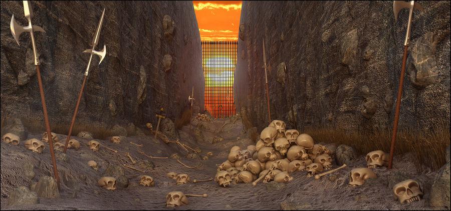 Skull Fantasy Path royalty-free 3d model - Preview no. 1