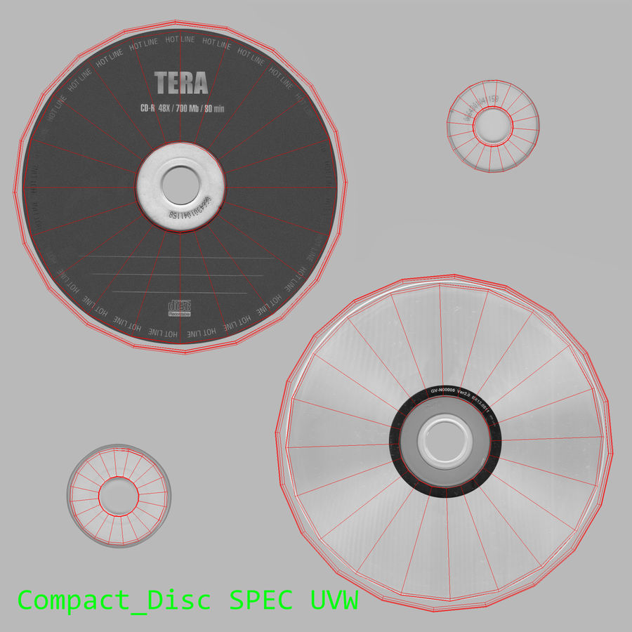 콤팩트 디스크 royalty-free 3d model - Preview no. 3