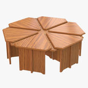 Coffee Table Hexagon 3d model