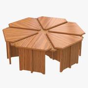 Coffee Table Hexagon 3d model