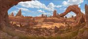 Paisaje de rocas rupestres modelo 3d