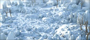 Sneeuw landschap 3d model