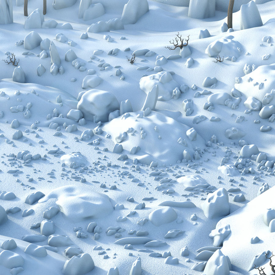 Sneeuw landschap royalty-free 3d model - Preview no. 5