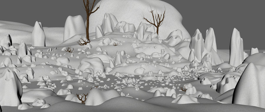 Sneeuw landschap royalty-free 3d model - Preview no. 8