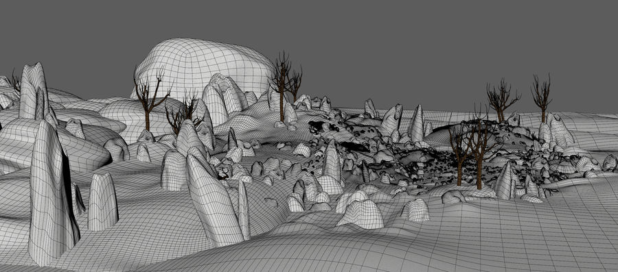 Paesaggio di neve royalty-free 3d model - Preview no. 11