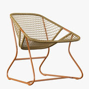Fermob Outdoor Furniture Sixties Rattan Chair 3D Model 3d model