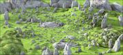 山岩景观 3d model