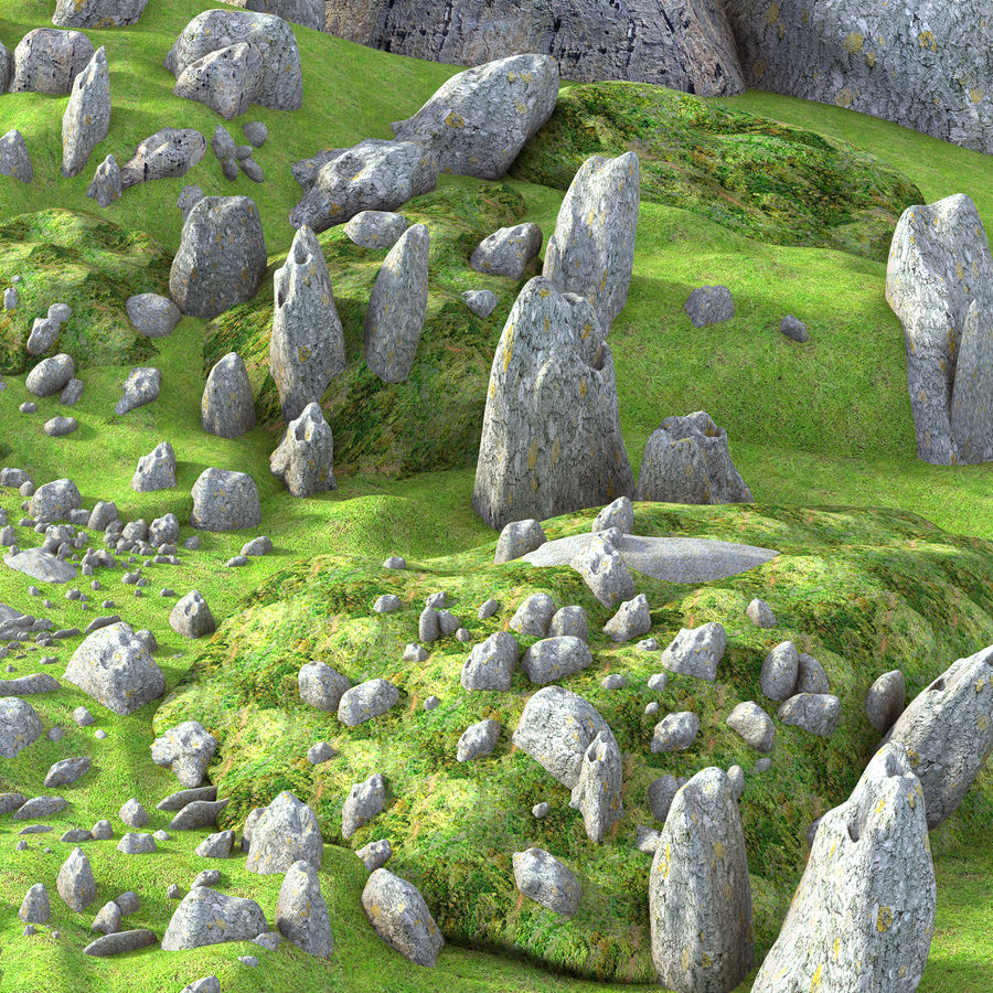 Mountain Rock Landscape royalty-free 3d model - Preview no. 3