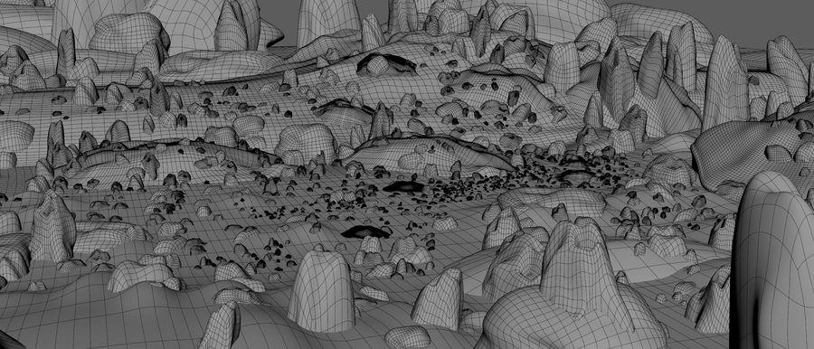 Mountain Rock Landscape royalty-free 3d model - Preview no. 8