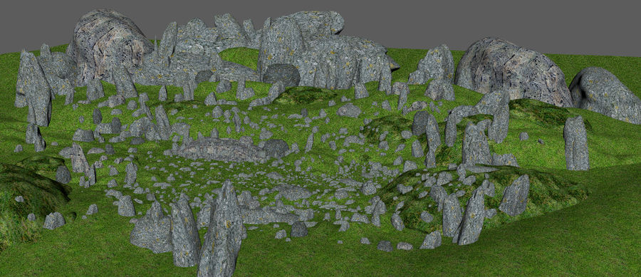 Mountain Rock Landscape royalty-free 3d model - Preview no. 5