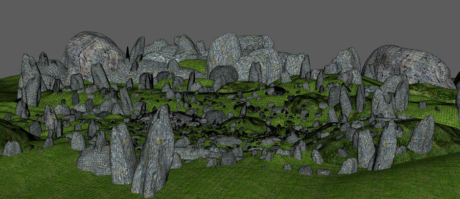 Mountain Rock Landscape royalty-free 3d model - Preview no. 11