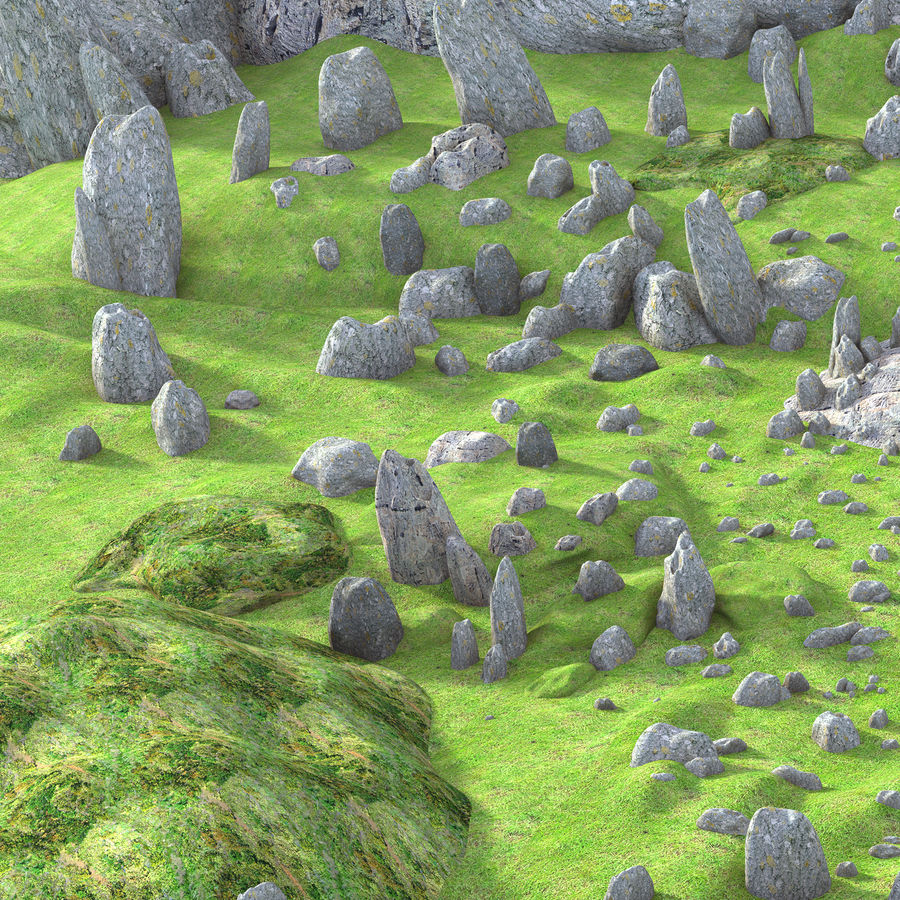 Mountain Rock Landscape royalty-free 3d model - Preview no. 2