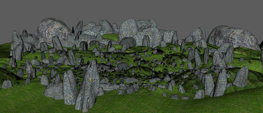 Mountain Rock Landscape royalty-free 3d model - Preview no. 11