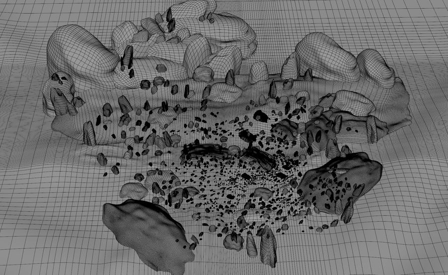 Mountain Rock Landscape royalty-free 3d model - Preview no. 10