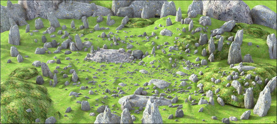 Mountain Rock Landscape royalty-free 3d model - Preview no. 1