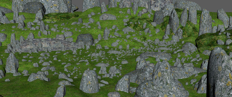 Mountain Rock Landscape royalty-free 3d model - Preview no. 7