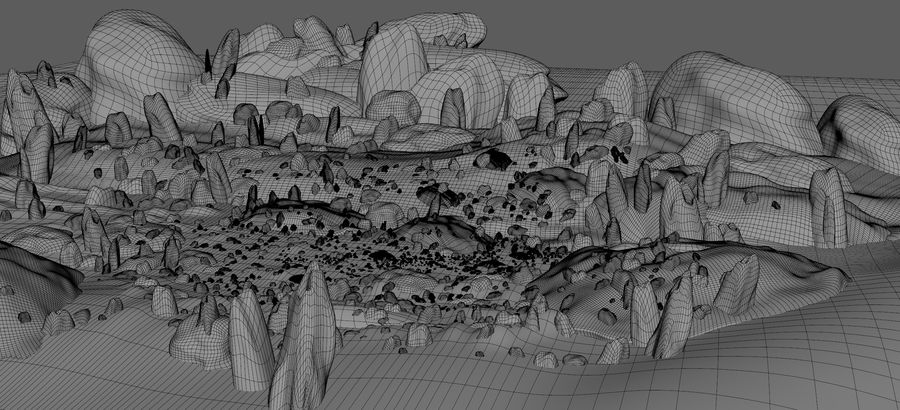 Mountain Rock Landscape royalty-free 3d model - Preview no. 6