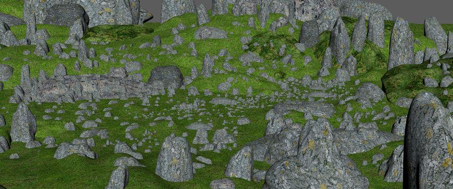 Mountain Rock Landscape royalty-free 3d model - Preview no. 7