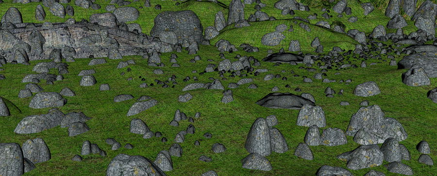 Mountain Rock Landscape royalty-free 3d model - Preview no. 12