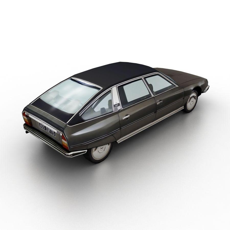 Citroen CX 1974 royalty-free 3d model - Preview no. 2