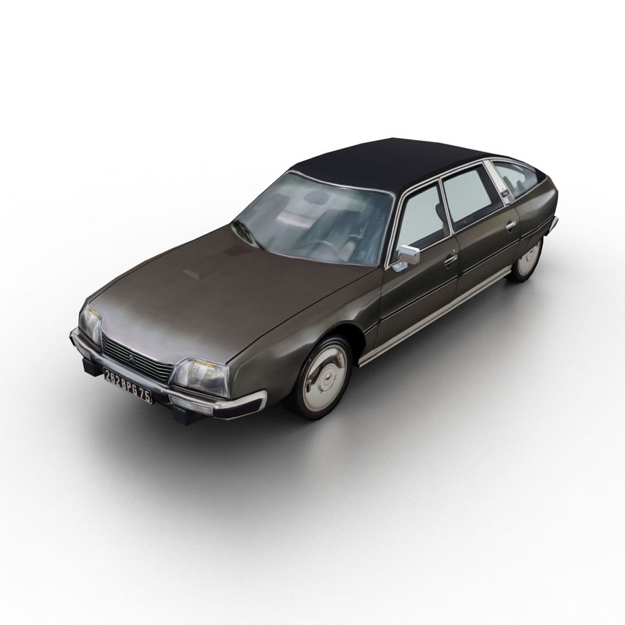 Citroen CX 1974 royalty-free 3d model - Preview no. 1
