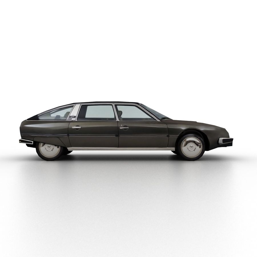 Citroen CX 1974 royalty-free 3d model - Preview no. 3