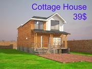 Cottage House Full Interior 3d model