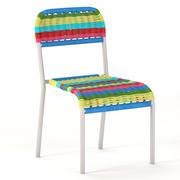 Fotorealistisk IKEA Fargglad barnstol 3d model