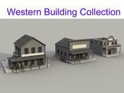 Western Building Collection 3d model