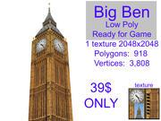 BIG BEN Londen 3d model