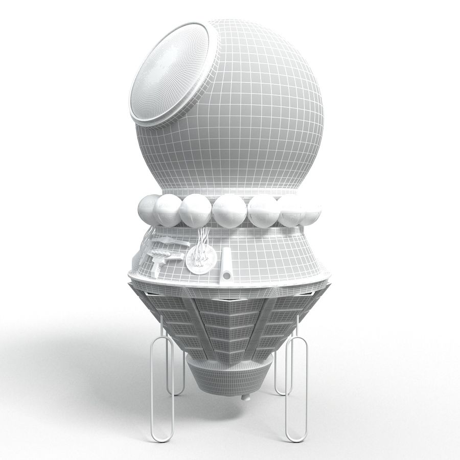 Rosyjski statek kosmiczny Wostok royalty-free 3d model - Preview no. 5