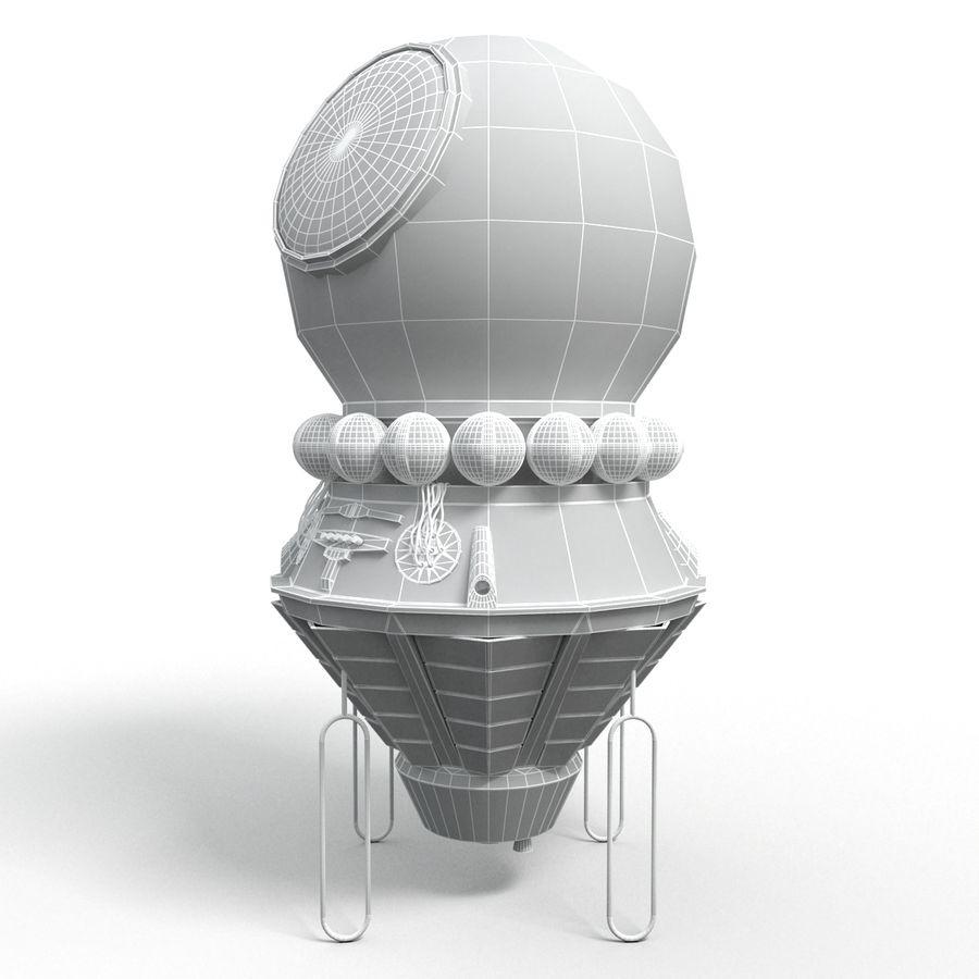 Rosyjski statek kosmiczny Wostok royalty-free 3d model - Preview no. 4