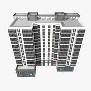 Prédio de apartamentos com escritórios 3d model