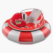 Eğlence Parkı Çarpışan Tekne 3D Model 3d model