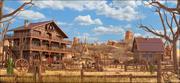 西部牧场景观 3d model