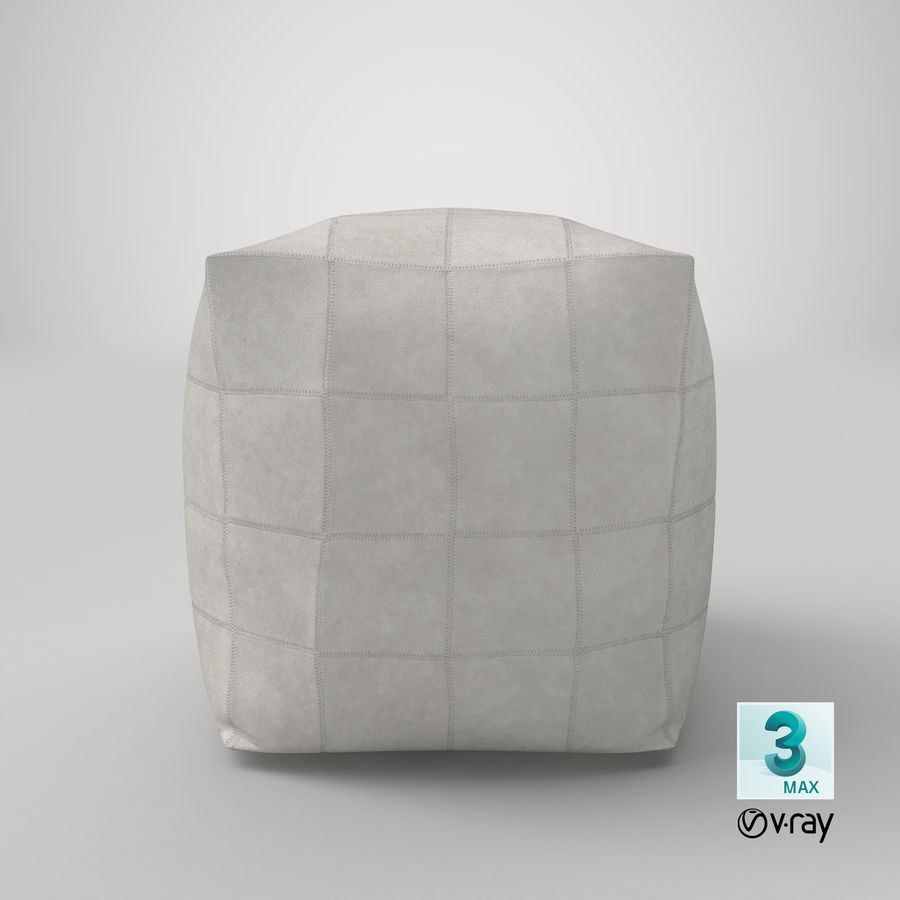 Samtida Pouf royalty-free 3d model - Preview no. 20