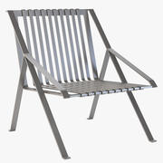 Poltrona da giardino in metallo con schienale alto Line Photorealistic di Efasma 3d model