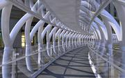 Modern Pedestrian bridge 3d model