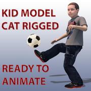 Cat Rigged Kid Modelo 3D 3d model