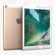 Apple iPad 9.7 (2017) WiFi + Cellular Gold 3d model