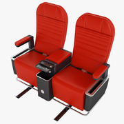 First Class Airplane Chair 03 3d model