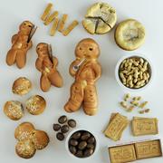 Świąteczne jedzenie 3d model