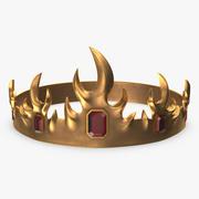 Corona con rubíes modelo 3d