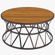Photorealistic Hooker Furniture Chadwick Round Cocktail Table 3d model